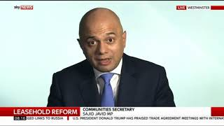 #LeaseholdScandal & #Grenfell - Sajid Javid MP - Sky News -25/7/2017