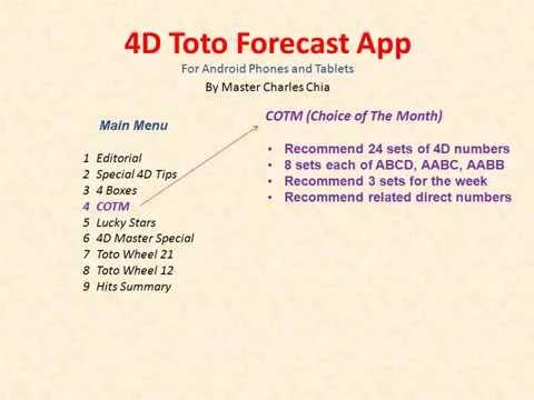 4D Toto Forecast Presentation