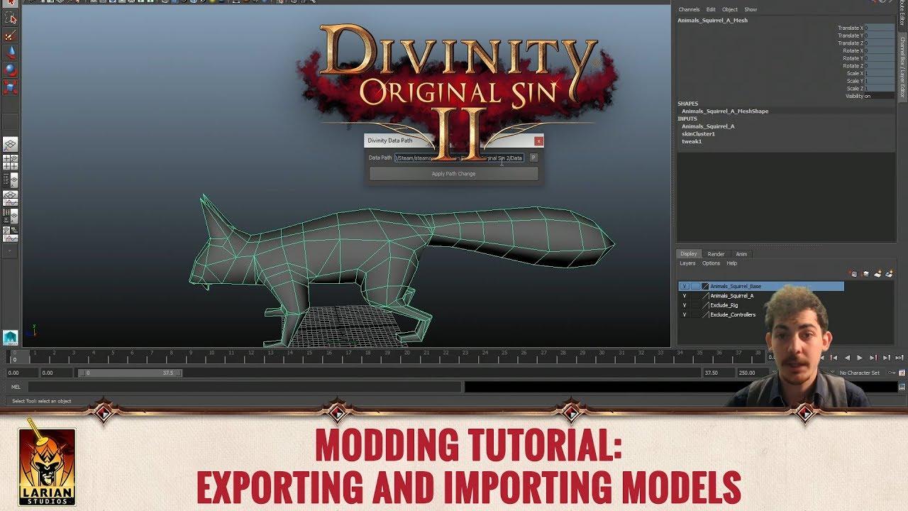 Divinity: Original Sin 2 - Modding Tutorials: Exporting and Importing Models