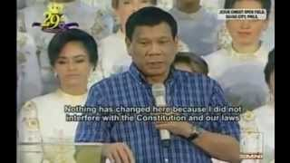 Mayor Rudy Duterte Presidential Platform