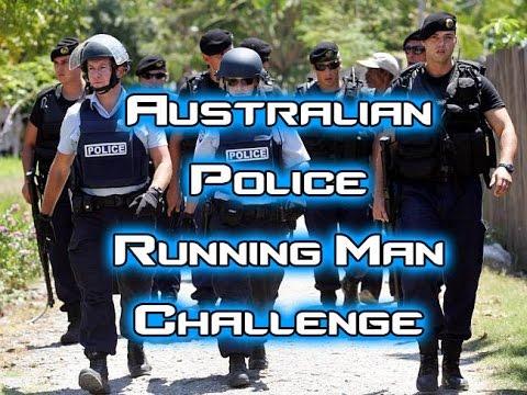 Australian Police Running Man Challenge (Funny)
