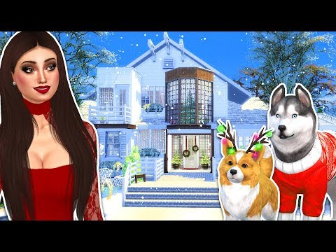 The Sims 4 - OUR NEW HOUSE!! SIMS 4 Christmas Cottage w/ Snow! (Sims 4 Gameplay)