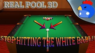 NICK STOP PUTTING THE WHITE BALL IN!! - Real Pool 3D Poolians Funny Moments - w/ TheNickelKing