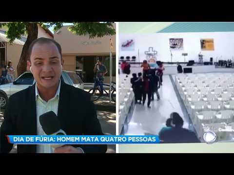 Vídeo mostra momento em que homem invade igreja e atira em fiéis em Paracatu (MG)