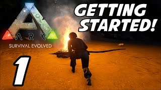 """ARK Survival Evolved   E01   """"Getting Started!"""" (Gameplay / Playthrough / 1080p60 )"""