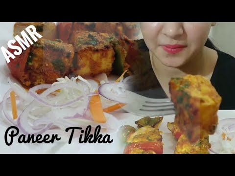 PANEER TIKKA ASMR  | INDIAN (PUNJABI) STREET FOOD EATING SOUND | DETECTIVE BITES