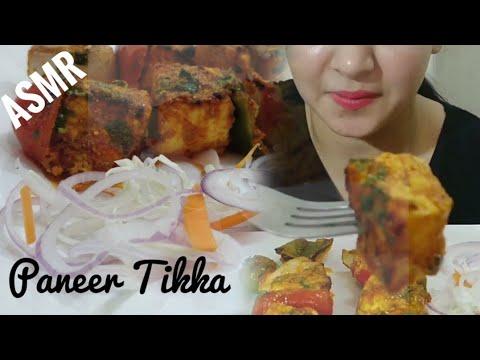 PANEER TIKKA ASMR | INDIAN (PUNJABI) STREET FOOD EATINGSOUND | DETECTIVE BITES