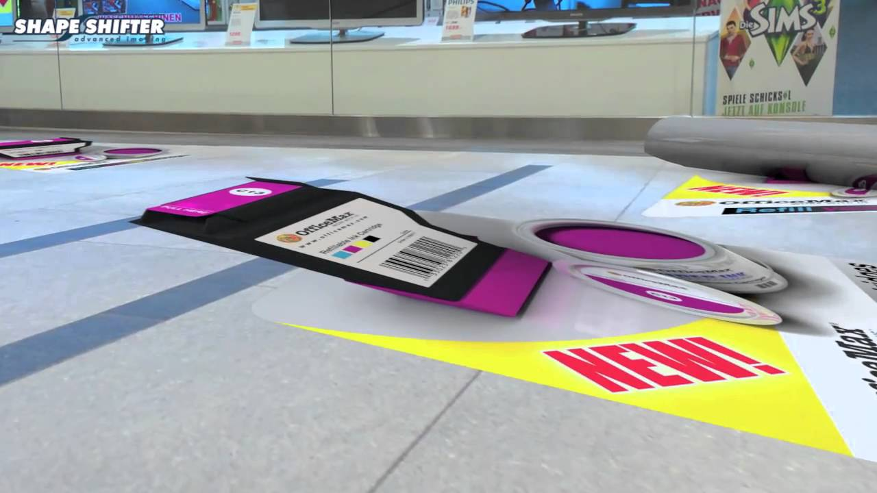 3d floor decals youtube for Floor stickers