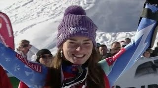 Video Tina Maze wins first Super G race - Universal Sports download MP3, 3GP, MP4, WEBM, AVI, FLV Agustus 2018