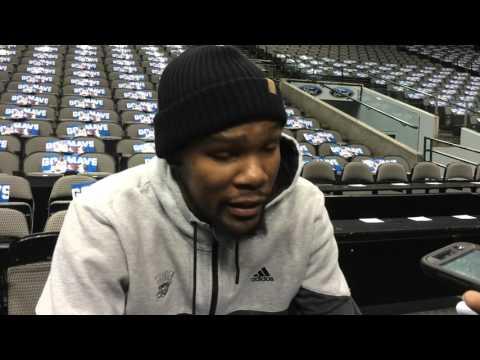 Durant: Shootaround in Dallas - Jan. 22, 2016