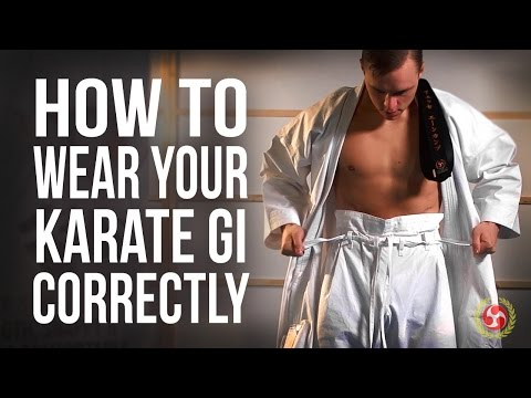 How To Wear Your Karate Gi Correctly - YouTube