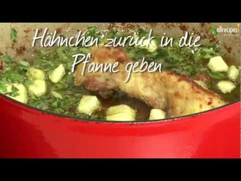 Rezept:  Pollo al ajillo (Spanisches Knoblauch Huhn)