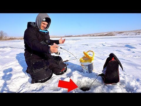 ICE FISHING A Farm Pond With HUGE Potential!!!