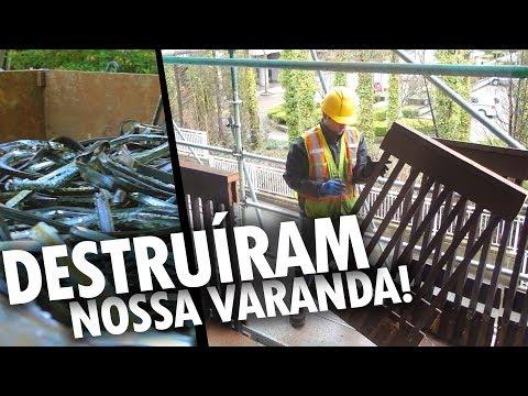 DESTRUÍRAM NOSSA VARANDA NO CANADÁ! - Vlog Ep.66