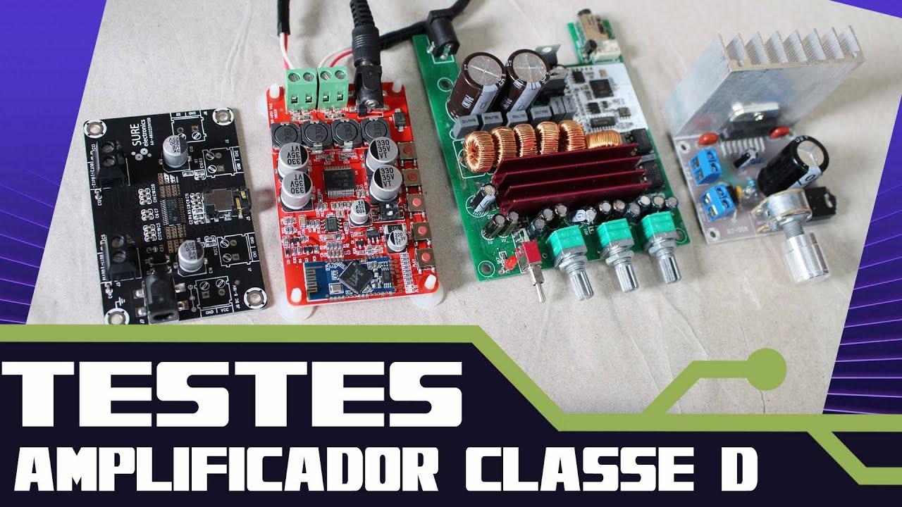 Amplificador Classe D Tpa3116 Tpa3110 Tda7377 Tda7492 Teste Class Amplifier Circuit Tpa3116d2 Tpa3118d2 Subwoofer Das Placas