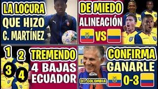 DE ÚLTIMA HORA! ALINEACIÓN DE MIEDO ECUADOR VS COLOMBIA EN VIVO 2020 | 4 BAJAS DE LA TRICOLOR