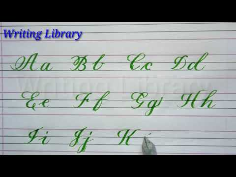 Basics Upper And Lower Case Tutorial Stroke/ Beautiful And Neat Cursive Hand Writing For Beginners/