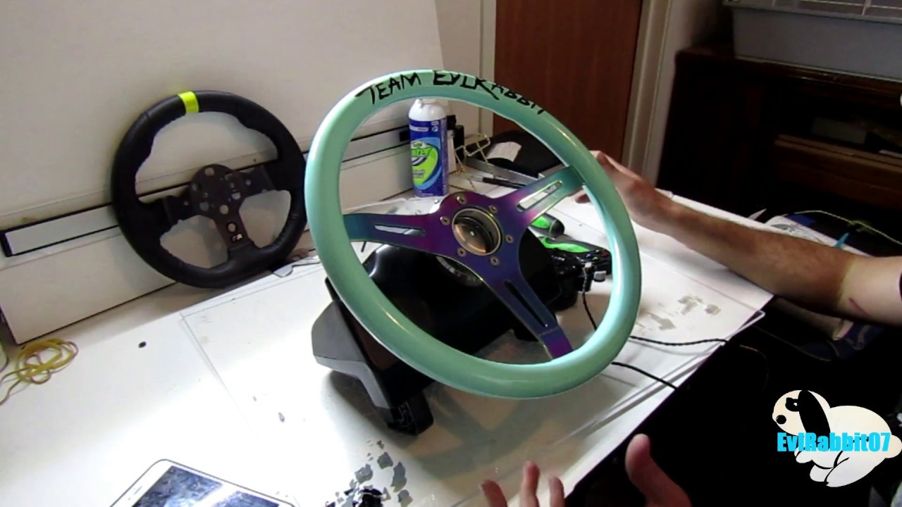 Custom Logitech g920 with handbrake mod and NRG wheel!!!