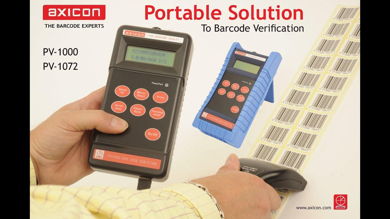 Barcode Verification axicon pv-1000 portable barcode verification