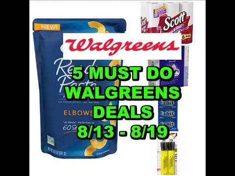 5 MUST DO WALGREENS DEALS:  8/13 - 8/19 |...