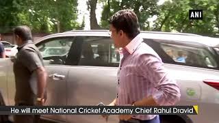 Sourav Ganguly arrives in Bengaluru to meet Rahul Dravid