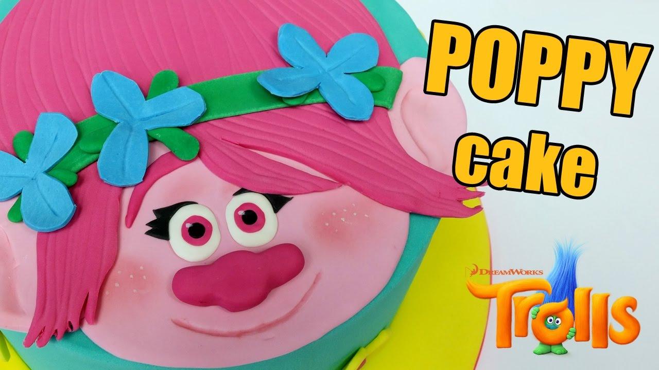 Poppy Troll Cake How To Make Poppy Trolls Cake Youtube