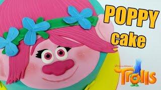 POPPY TROLL CAKE! How to make Poppy Trolls cake