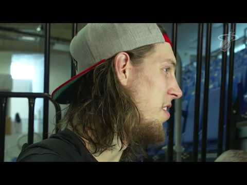 Sept 30, 2017 - HEAT.COM - Kelly Olynyk: Red, White & Pink Game Post Interview