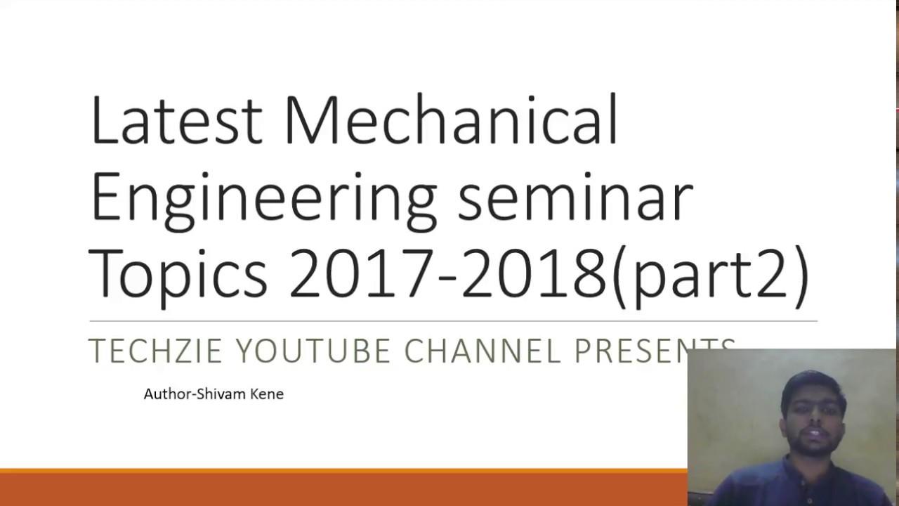 MECHANICAL ENGINEERING SEMINAR EBOOK