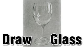 how to draw glass in pencil drawing