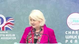 Siobhain McDonoaugh Ansar Charity Walk Cheque Presentation 2018