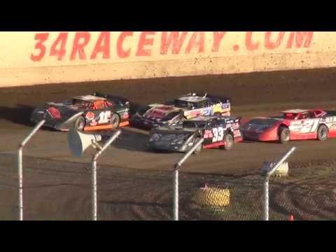 Late Model heats 34 Raceway 5/29/16
