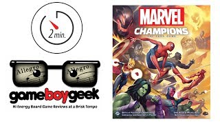 Marvel Champions 2 Minute (Allegro) Review with the Game Boy Geek