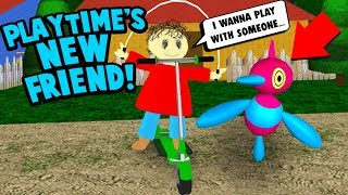 PLAYTIME MAKES A NEW SECRET FRIEND! | Baldi's Basics Roblox RP