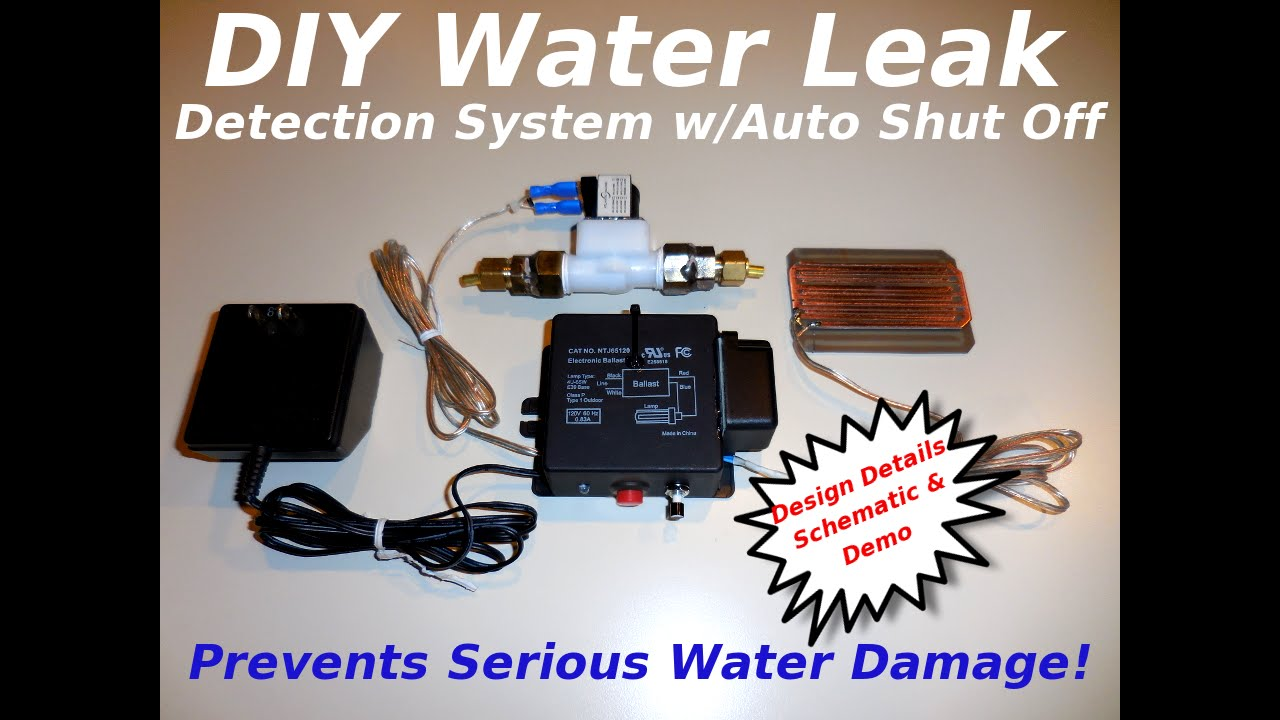 Diy Water Leak Detection System W Auto Shut Off Youtube