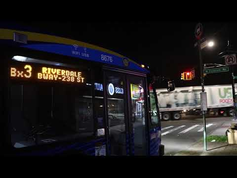 2019 Novabus LFS #8676 on the Bx3 at University Avenue and Fordham Road