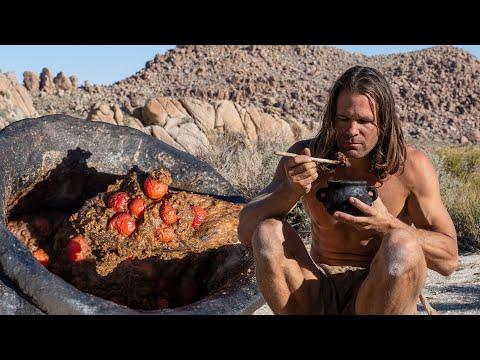 Primitive Acorn Mush Breakfast In Desert