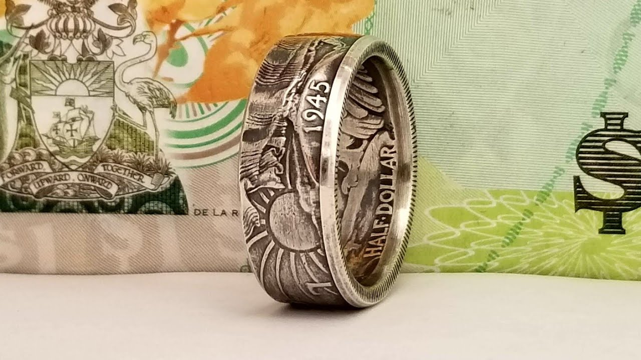 How to Make a Walking Liberty Half Dollar Coin Ring