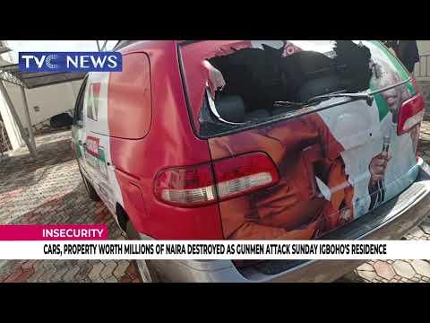 [WATCH] Gunmen Attack Sunday Igboho's Residence, Destroy Cars, Property Worth Millions Of Naira