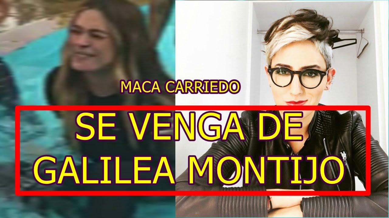 MACA CARRIEDO SE VENGA DE GALILEA MONTIJO y FUE VICTIMA DE BROMA PESADA - YouTube
