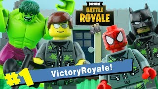 LEGO Fortnite Battle Royale STOP MOTION LEGO Hulk vs Spiderman vs Batman | LEGO | By Billy Bricks
