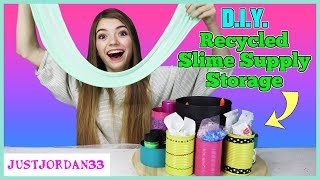 Easy DIY Recycled Slime Supply Storage For Slime Suite / JustJordan33