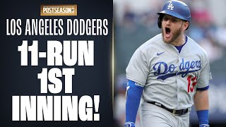 Dodgers put up 11 RUNS in 1st inning!! 😱 LA GOES OFF to start out NLCS Game 3 (Postseason Record)