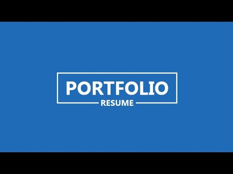Portfolio Resume After Effects Project Videohive Template