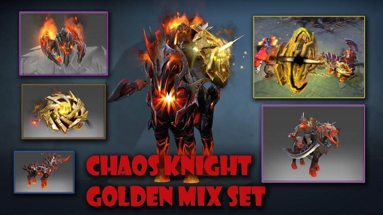 Dota  Chaos Knight Golden Mix Set Golden Chaos Fulcrum Diabolic Aspect Entropic Battlegear