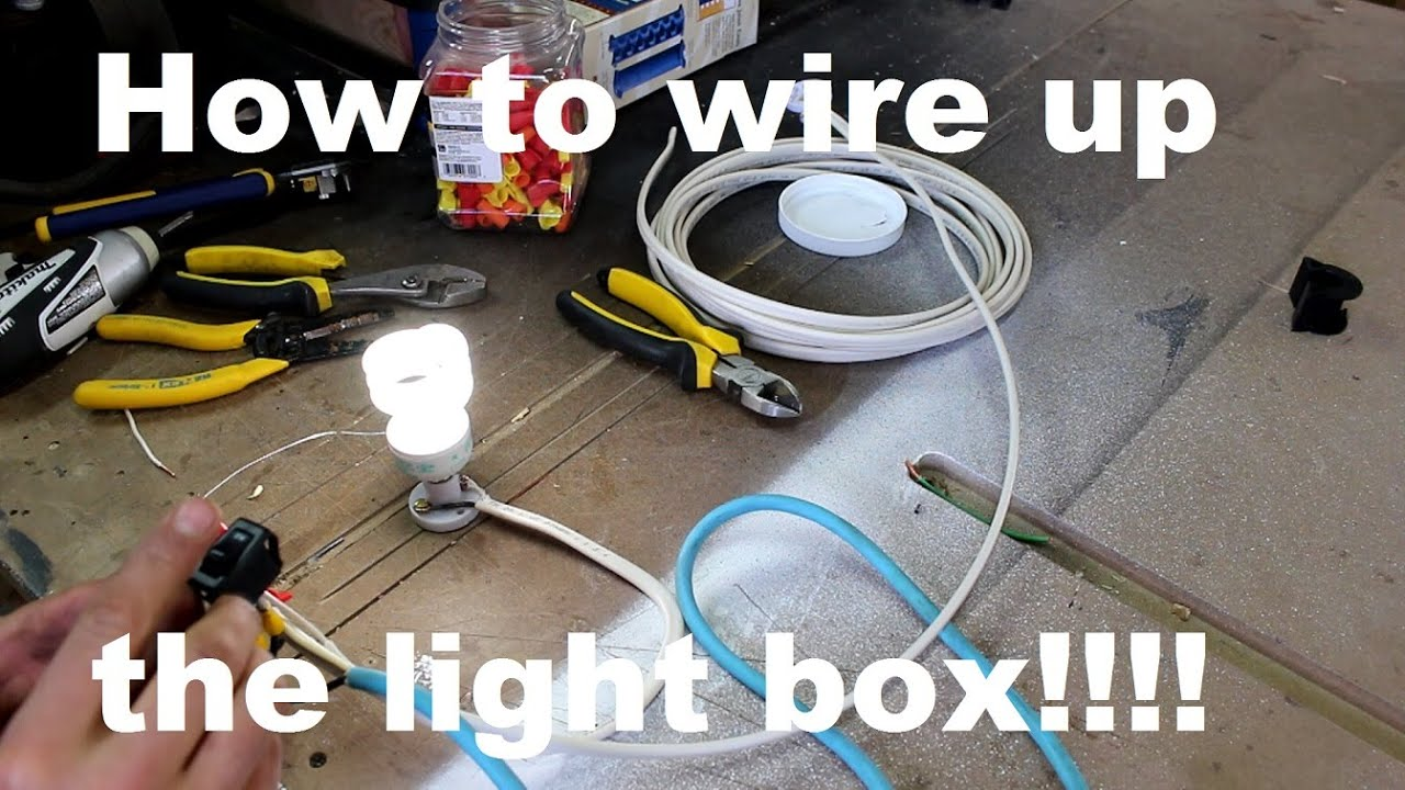 How To Wire Up A Light Box Youtube Junction Wiring Switch