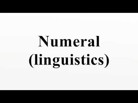 Numeral (linguistics)