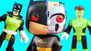 Imaginext Green Lantern Batman Captures Batman Robot | Joker Controls Voice Command Robot Toy