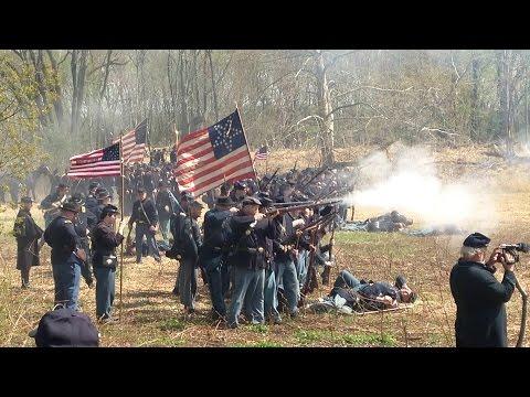 Battle of White Oak Road Civil War reenactment in Neshaminy Park 2015
