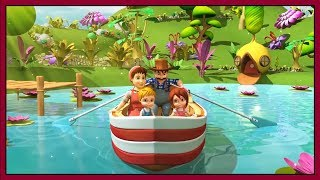 Row Row Row Your Boat Songs for Kids | 3D Animation English Nursery Rhymes & Kids Songs